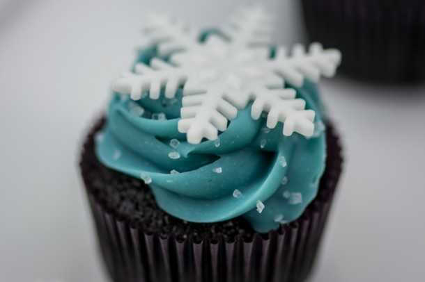 Cupcake Flocos de Neve
